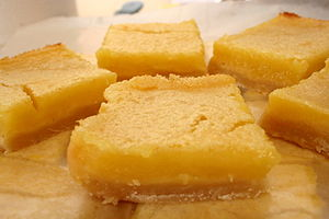 Made lemon squares today. The crust is similar...