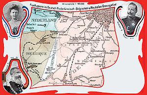 Deutsch: Postkarte des Neutralen Gebiets Mores...