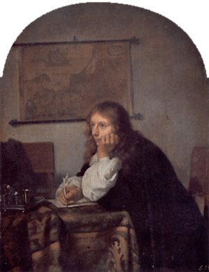 Netscher, Caspar - The Man Writing a Letter - ...