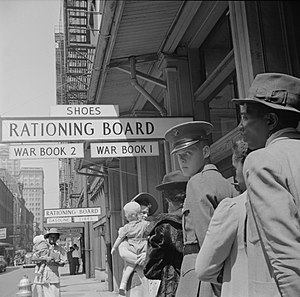 New Orleans, Louisiana, 1943. Line at Rationin...