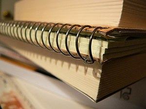 Ring bound notebook