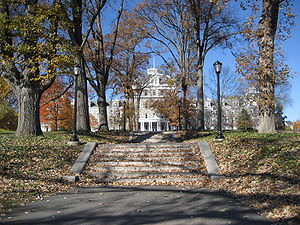 A picture of Swarthmore College's Parrish Hall...