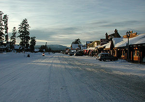 Yellowstone Avenue in West Yellowstone, Montan...