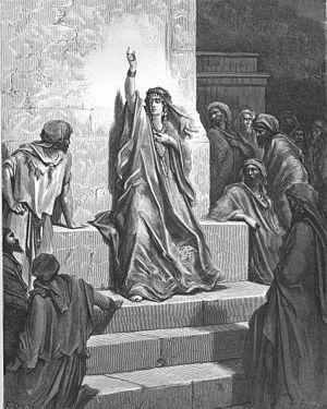 English: Deborah Praises Jael (Jud. 5:1-3,24-3...