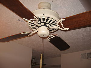 Picture of one of the ceiling fans in my colle...