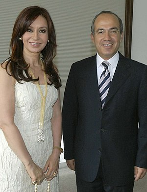 Senator Cristina Fernández de Kirchner and the...