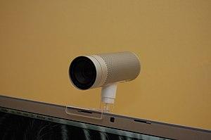 English: Apple iSight camera (correct orientation)