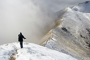 English: Kepler Track alpine ridgeline, New Ze...