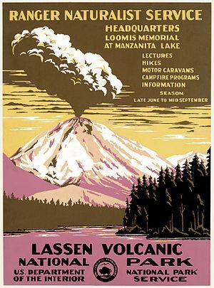 Poster for Lassen Volcanic National Park, Cali...