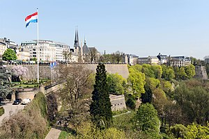 English: Luxembourg City: Fortress with Bastio...