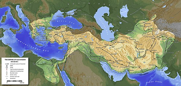 Generic Mapping Tools   Wikipedia An example of a map created with GMT  illustrating the empire of Alexander  the Great