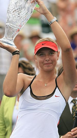 English: Maria Sharapova, Winner of the 2006 A...