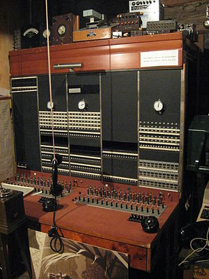 English: Old telephone switchboard