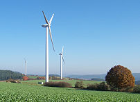 Wind turbines in Marburg-Wehrda (D)