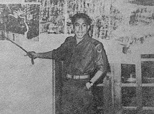 Col. A Yani leading a briefing on 12 April 1958