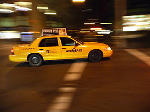 English: New York City Taxi: Yellow Cab Deutsc...