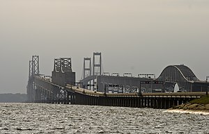 English: Chesapeake Bay Bridge from the Queen ...