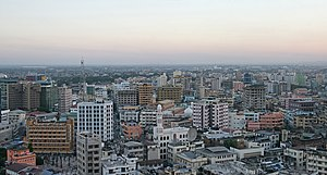 Panorama of Dar es Salaam city a few minutes b...