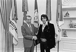 Prezydent USA Richard Nixon i Elvis Presley; Biały Dom rok 1970