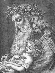 English: Father Time and Baby New Year from Fr...