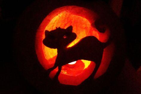 Halloween pumpkin, Sanok 2012.JPG