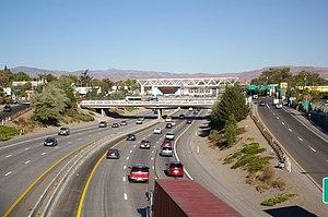 I-80 through downtown Reno, Nevada