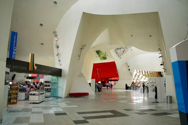 Interior of the National Museum of Australia