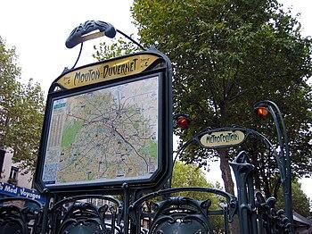 Entrée de la station Mouton - Duvernet, ligne 4