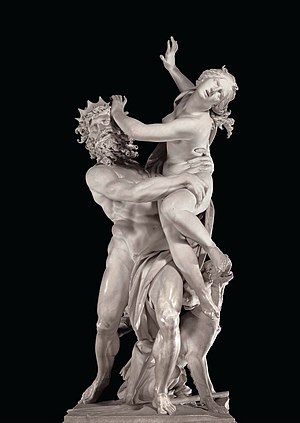 The Rape of Proserpina sculpture by Bernini in...