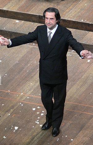 Riccardo Muti nach einer Opernaufführung der S...