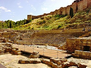 English: Roman theater of Malaga Español: Teat...