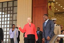 Secretary Clinton speaks with Togolese President Gnassingbe