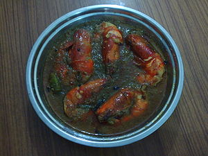 Traditional shrimp curry as prepared in Benagl...