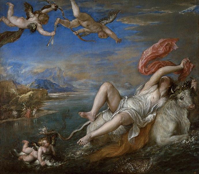 Tizian: Entführung Europas