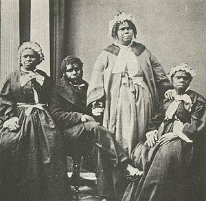 A picture of the last four Tasmanian Aborigine...