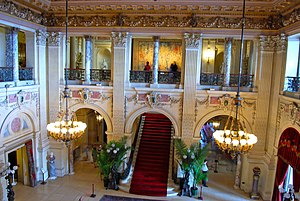 The Great Hall of The Breakers in Newport, Rho...