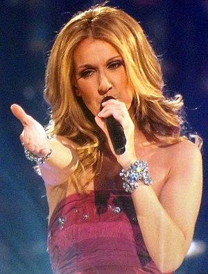 Celine Dion performing