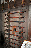 Photo of gun racks inside the keep