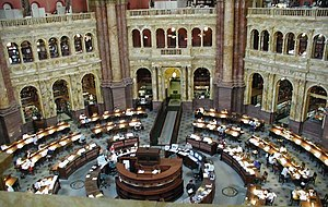 The Library of Congress main reading room, Jef...