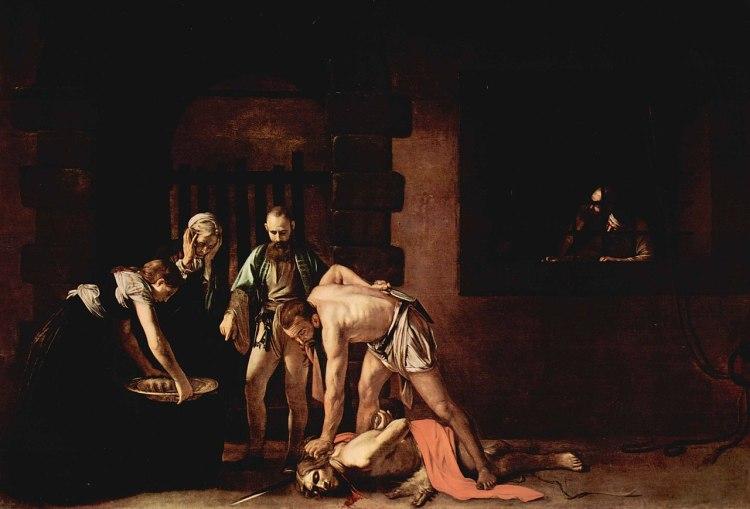 La Décollation de saint Jean-Baptiste, Le Caravage, c. 1608, co-cathédrale Saint-Jean de La Valette.