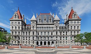 New York State Capitol viewed from the south, ...