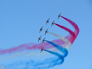 English: Patrouille de France at RIAT 2004.