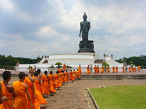 Theravada Buddhism is highly respected in Thai...