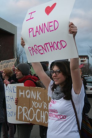 Planned Parenthood supporters.