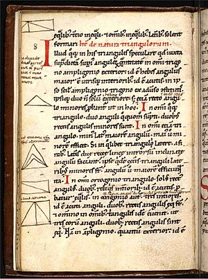 English: Geometriae Isagoge, fol 12v, Treaty o...