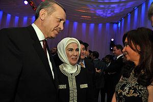 Turkish Prime Minister Recep Tayyip Erdogan (L...