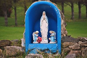 English: A representation of Mary, mother of J...
