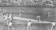 Foto hitam-putih kriket