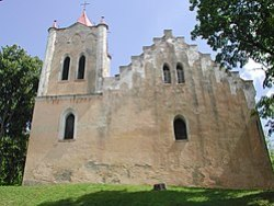 St. John Lutheran church in Aizpute built in 1253