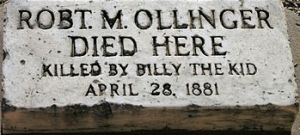A grave marker indicating that the deceased wa...
